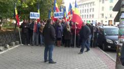 Marș amplu de protest desfășurat de Partidul Nostru, condus de Renato Usatîi, în centrul orașului Chișinău