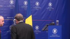 Conferință de presă susținută de ministrul Afacerilor Externe al României, Bogdan Aurescu, și Adjunctul Secretarului-general NATO, Alexander Vershbow