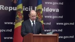 Briefing susținut de prim-ministrul Republicii Moldova, Valeriu Streleț
