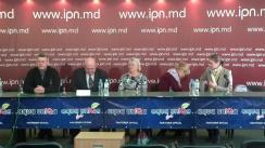 """Conferință de presă organizată de AO Moldova Mea cu tema """"Cerem introducerea pedepsei capitale pentru corupție. Cine nu susține în Parlament propunerea noastră, merită soarta lui Filat"""""""