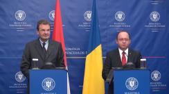 Conferință de presă susținută de ministrul Afacerilor Externe al României, Bogdan Aurescu, și Marele Cancelar al Ordinului Suveran de Malta, Albrecht Freiherr von Boeselager