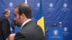 Conferință de presă susținută de ministrul Afacerilor Externe al României, Bogdan Aurescu, și ministrul afacerilor externe al Statului Qatar, Khalid Bin Mohammed Al Attiyah