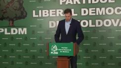 Briefing susținut de fracțiunea parlamentară a Partidului Liberal Democrat din Moldova