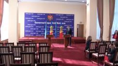 Briefing susținut de prim-ministrul Republicii Moldova, Valeriu Streleț, și Comisar european pentru Comerț, Cecilia Malmstrom