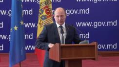 Briefing susținut de prim-ministrul Republicii Moldova, Valeriu Streleț, privind moțiunea de cenzură depusă față de Guvern
