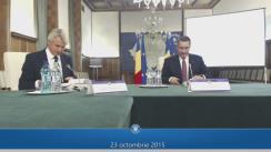 Conferință de presă după ședința Guvernului României din 23 octombrie 2015