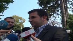 Declarație de presă președintelui PC, Daniel Constantin, înaintea ședinței Alianței de Centru Dreapta