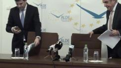 Conferință de presă susținută de copreședinții ALDE Călin Popescu-Tăriceanu și Daniel Constantin privind noul Cod Fiscal