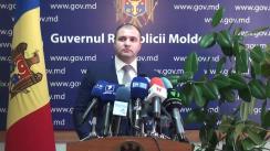 Declarațiile lui Vladimir Cebotari după ședința Guvernului Republicii Moldova din 28 octombrie 2015