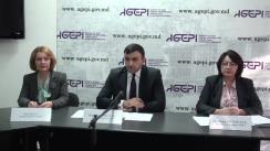 Conferință de presă organizată de AGEPI dedicată intrării în vigoare, la 1 noiembrie 2015, a Acordului dintre Guvernul Republicii Moldova și Organizația Europeană de Brevete privind validarea brevetelor europene