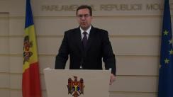 Declarațiile lui Marian Lupu în timpul ședinței Parlamentului din 29 octombrie 2015