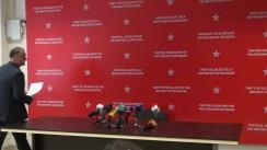 Briefing susținut de președintele Partidului Socialiștilor din Republica Moldova, Igor Dodon