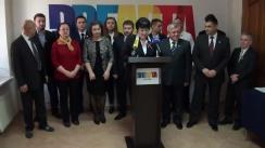 Conferință de presă organizată de Partidul Dreapta prilejuită de lansarea Declarației de Unire a Republicii Moldova cu România