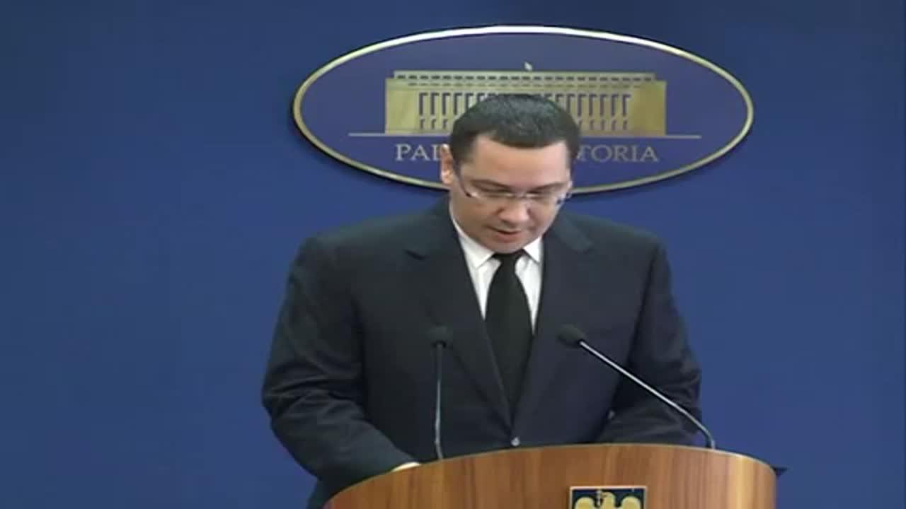 Declarație de presă susținută de prim-ministrul Victor Ponta privind demisia sa