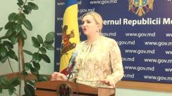 Declarațiile Ruxandei Glavan după ședința Guvernului Republicii Moldova din 4 noiembrie 2015