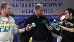 Declarațiile lui Victor Parlicov după ședința ANRE din 4 noiembrie 2015