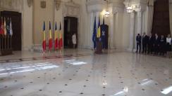 Ceremonia de decorare a unor instituții culturale și uniuni de creație de către președintele României, Klaus Iohannis