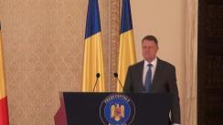 Declarație de presă a președintelui României, Klaus Iohannis
