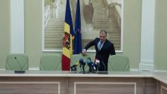 Briefing susținut de ministrul în exercițiu al Justiției, Vladimir Cebotari, privind concluziile grupului de lucru creat pentru a vedea dacă e posibil de reziliat contractul în cazul concesionării Aeroportului Internațional Chișinău
