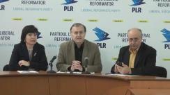 """Conferință de presă organizată de Partidul Liberal Reformator cu tema """"PLR despre pretextul, contextul și subtextul declarației Ministrului Justiției în dosarul concesionării Aeroportului"""""""