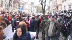 """Mitingul de protest organizat de Platforma Civică """"Demnitate și Adevăr"""" în fața ANRE"""