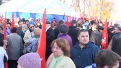Miting de protest organizat de Partidul Socialiștilor din Republica Moldova pentru a cere anularea majorării tarifelor la energia electrică, demisia președintelui Republicii Moldova, Nicolae Timofti, și organizarea alegerilor parlamentare anticipate