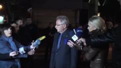 Declarațiile prim-ministrului interimar, Gheorghe Brega, după minutul de reculegere pentru victimele din Paris la Ambasada Franței din Chișinău