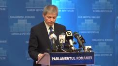 Prezentarea propunerilor pentru membrii Guvernului de către prim-ministrul desemnat, Dacian Cioloș