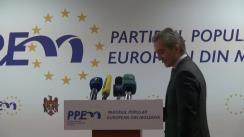 Conferință de presă susținută de președintele Partidului Popular European din Moldova, Iurie Leancă, privind rezultatele vizitei de lucru PPEM în Germania