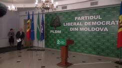 Briefing susținut de vicepreședintele PLDM, Valeriu Streleț