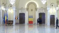 Ceremonia de depunere a jurământului de învestitură în funcție de către membrii Guvernului condus de Dacian Cioloș