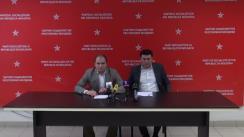 """Conferință de presă susținută de președintele fracțiunii socialiștilor în CMC, Ion Ceban, și deputatul socialist, Vladimir Odnostalco, cu tema """"Probleme grave în sistemul de sănătate și cel de protecție socială"""""""