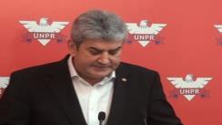 Declarații de presă susținute de liderii UNPR Gabriel Oprea și Cristian Diaconescu