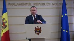 Declarațiile lui Igor Dodon în timpul ședinței Parlamentului din 19 noiembrie 2015