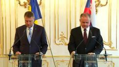 Declarație de presă susținută de președintele României, Klaus Iohannis, și a președintelui Republicii Slovace, Andrej Kiska