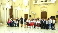 Ceremonia de decorare a două școli gimnaziale din mediul rural – Școala din comuna Cilibia, județul Buzău și Școala din comuna Horia, județul Constanța – cu merite deosebite în reducerea abandonului școlar