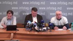 """Conferință de presă organizată de Asociația Sociologilor și Demografilor din Republica Moldova cu tema """"Rezultatele studiului - Mișcarea protestatară din Republica Moldova: analiză sociologică"""""""