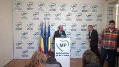 Declarație de presă susținută de președintele Mișcării Populare, Traian Băsescu