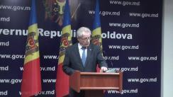 Declarații după ședința de urgență în legătură cu incidentul din Afganistan, în care a fost implicat un elicopter ce aparține unei companii din Republica Moldova