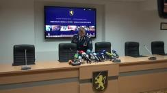 Conferință de presă privind rezultatele perchezițiilor efectuate în nordul țării în dimineața zilei de 25 noiembrie