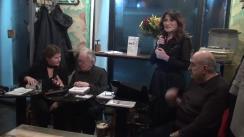 """Evenimentul """"Respirații"""" cu Mihai Sora, Luiza Palanciuc și Dan Grigore. Moderator - Nicoleta Savin"""