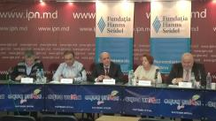 """Dezbateri publice cu tema """"De ce crizele din Moldova afectează integrarea europeană? Viziunea participanților la Adunarea Generală a Forumului Societății Civile din Parteneriatul Estic de la Kiev. Rezoluția AGFSC PE privind Moldova"""""""