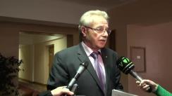 Declarațiile lui Gheorghe Brega după concursul de selectare a candidatului la funcția de judecător al Curții Constituționale