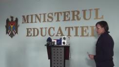 """Briefing organizat de Ministerul Educației cu tema """"Studiul de evaluare a rezultatelor școlare/competențelor de bază ale absolvenților învățământului primar și gimnazial, anul de studii 2014-2015, la Matematică, Limba română și Limba rusă"""""""
