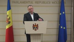 Declarațiile lui Igor Dodon în timpul ședinței Parlamentului din 2 decembrie 2015