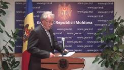 Declarațiile lui Gheorghe Brega după ședința Guvernului Republicii Moldova din 2 decembrie 2015