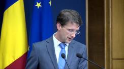 Declarația purtătorului de cuvânt al Guvernului, Dan Suciu, după ședința Guvernului României din 3 decembrie 2015