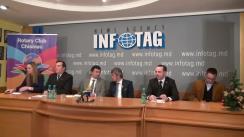 """Conferință de presă organizată de Rotary Club Chișinău cu tema """"Mișcarea rotariană în Republica Moldova și implementarea proiectelor sociale"""""""