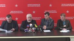 Conferință de presă susținută de consilierii PSRM din Consiliul Municipal Chișinău