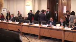 Ședința comisiilor reunite de afaceri europene ale Parlamentului României (imagini protocolare)
